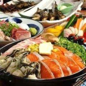 日本酒飲み放題+鮭チャンチャン焼き